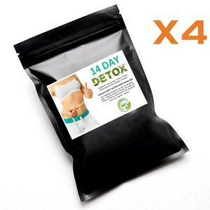 Bulk 4 x 14 Day Detox Tea Cleanse Fat Loss Diet Laxative Skinny Me Mint Teatox