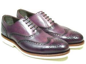 Cousu véritable 6 Oxford 5 Crust U423 Chaussures Prime Bordeaux cuir Shoes en hommes qZpawRFt