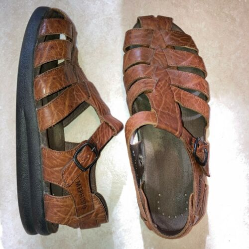 Mephisto Men's Brown Sam Fisherman Leather Sandal… - image 1