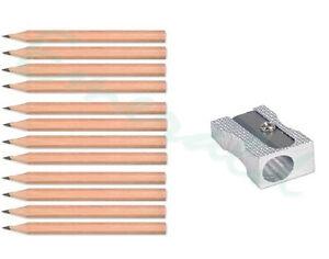 144-x-Golf-Pencils-HB-HALF-SIZE-amp-10-x-FREE-Metal-Sharpeners-Same-Day-Dispatch