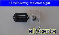 Golf Cart Battery Meter   48 Volt Battery Indicator Light   Universal To 48v