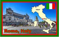 ROMA, ITALIA - RECUERDO ORIGINAL IMÁN DE NEVERA - MONUMENTOS / BANDERAS / MAPAS