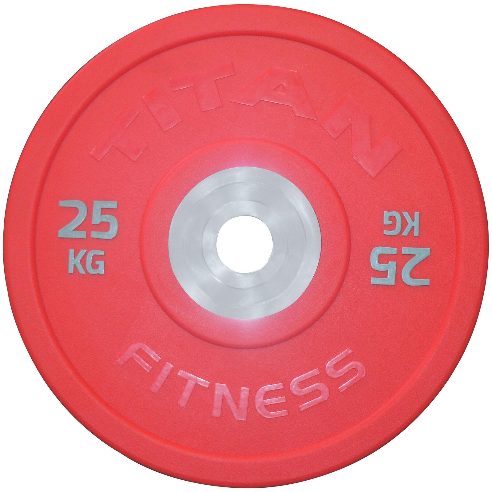 Titan Urethane Bumper Plates   color    25 KG Single  80% off