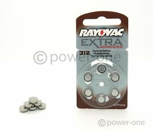 12 x Hörgerätebatterien Typ 312 Rayovac Extra Advanced 7,9 x 3,6mm