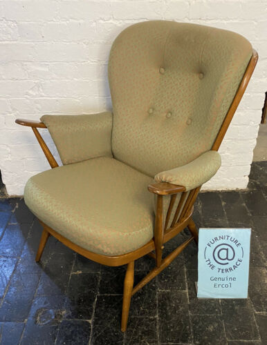 Ercol Springtime Low Back Easy Chair in a Golden Dawn Finish Model 914 1990's #3