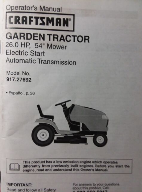 craftsman 20 0hp electric start 46 mower 6 speed garden tra