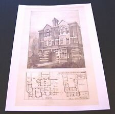 Drawings for New Wing - Rugby School - Architectural Drawing - 1895