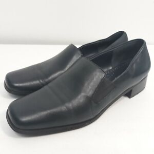 Slip On Leather Blue Loafers Size