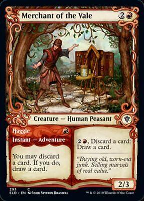 NM//M Throne of Eldraine MTG Magic - C Merchant of the Vale Showcase FOIL