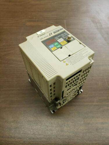Used Omron CIMR-J7AZB1P5 200-240V 1PH Input 3PH 0-240V 3.0KVA Output