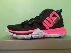 be8ae2951c1f Nike Kyrie 5 V Just Do It Black Volt Pink Multicolor Men s Sz 8-13 ...