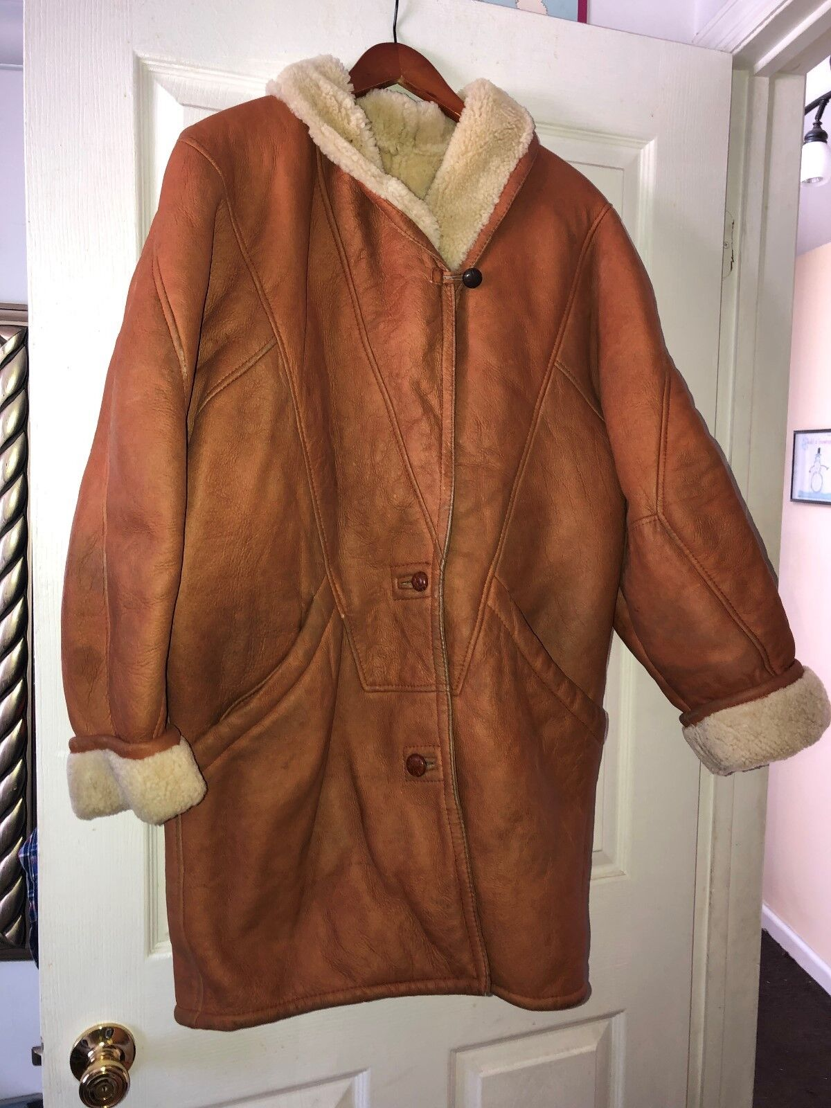 HUGO BOSCATI WOMEN SHEARLING SHEEPSKIN SIZE L