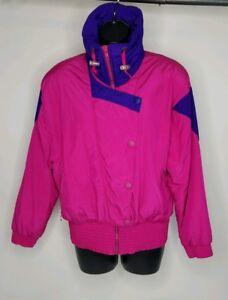 Pink Hot Fuld Ski Zip Frakke Womens Snowboard 90s Jacket Vintage Serac 80s Aqwgxg1