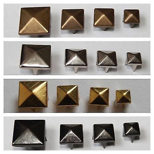 50 or 100 Pyramid Studs Rivet Punk Arts Leather Crafts 6mm 8mm 12mm 9mm