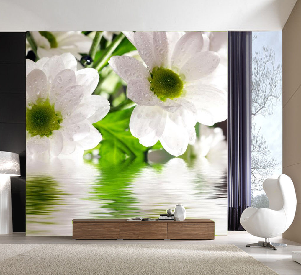 3D Fresh Purity Flower 1 Wall Paper wall Print Decal Wall Deco Indoor wall Mural