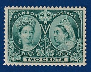 Canada-Stamps-52i-2c-deep-green-diamond-jubilee-VF-mnh-CV-150