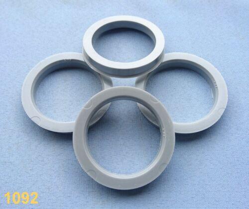 4 pièces Bagues de centrage 68,1 mm 54,1 mm Gris pour jantes Alu 1092