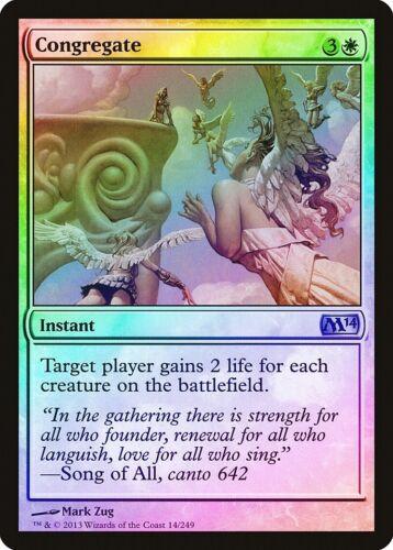 M14 NM-M White Uncommon MAGIC MTG CARD ABUGames Congregate FOIL Magic 2014