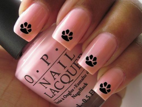 Nail Art Water Transfers Decals Stickers Rudolf Paw Prints Nails