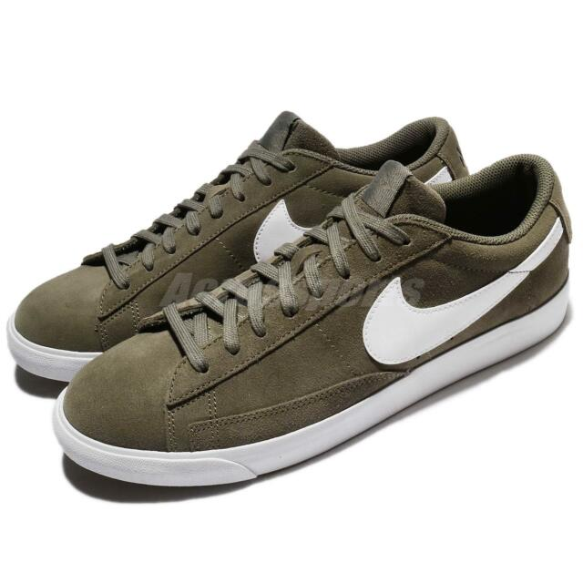 separation shoes 53696 78917 ... Nike Blazer Low Suede Medium Olive Green Men Shoes Sneakers Trainers  371760-209 ...