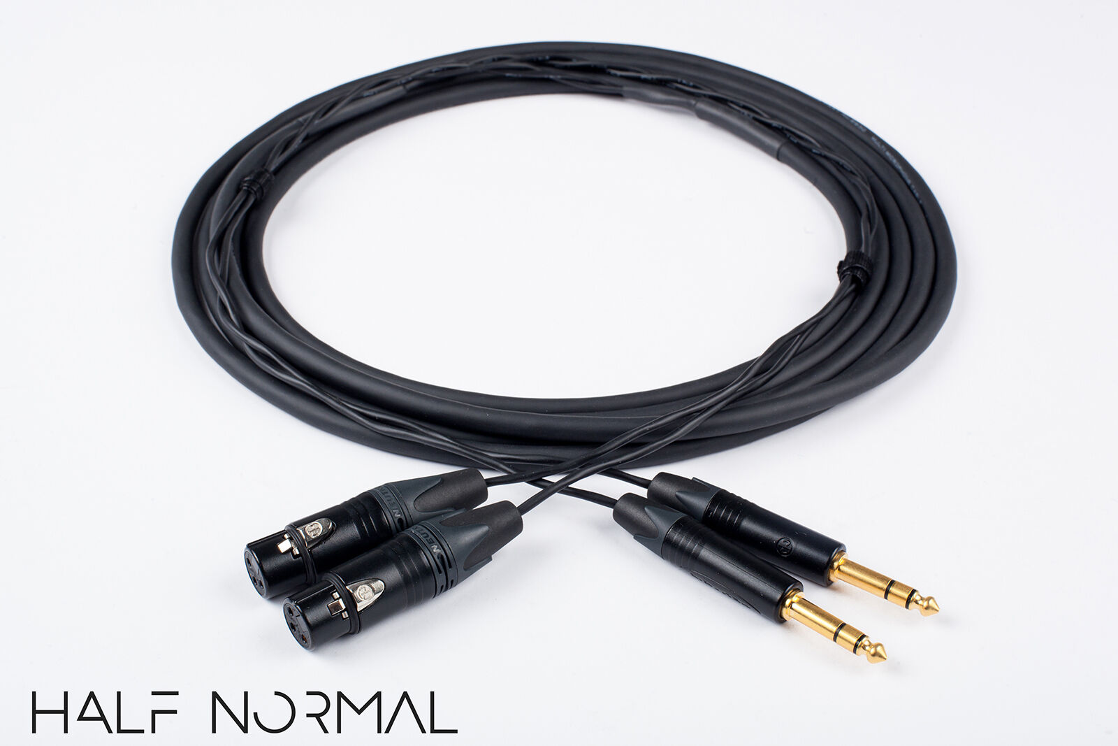 2 Channel Snake Cable 15' Foot Mogami 2930 Neutrik Gold XLR Female to 1 4  TRS