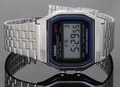 Casio A159WA-N1 Vintage Retro Digital Stainless Steel Watch A159WA A159WA-N1DF