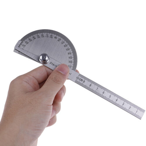 Stainless steel 180 degree protractor angle finder arm measuring ruler tool SP