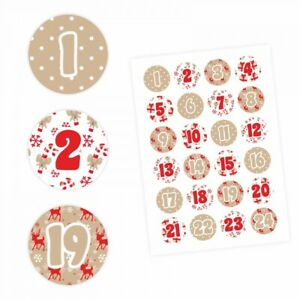 24-Adventskalender-Zahlen-Aufkleber-ROT-BEIGE-rund-4-cm-Sticker-Weihnachten