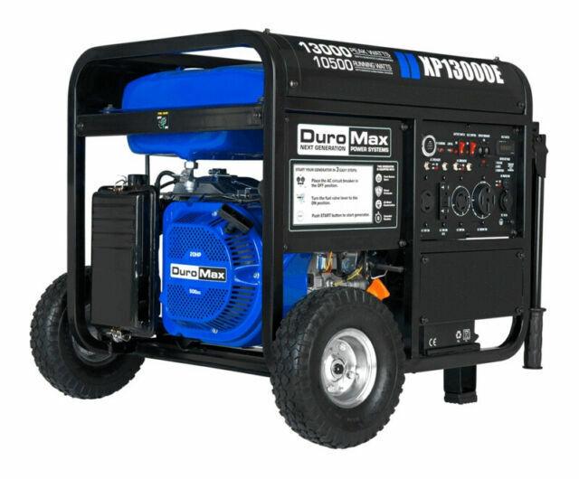 DuroMax XP13000E 10,500 W Portable Gas Electric Start Generator