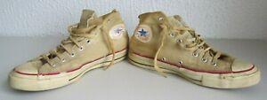 Vtg Retro 60s 70s Converse All-Star SZ 11.5 Chuck Taylor White High Top Shoes