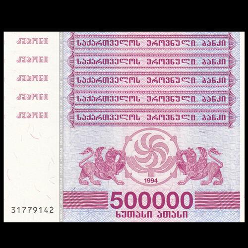 original banknote laris UNC P-51 Lot 5 PCS Georgia 500000 1994 5 million