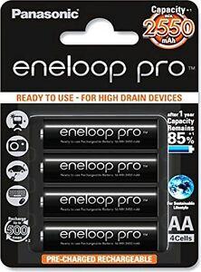 Panasonic Eneloop Pro upto 2550mAh 4xAA Rechargeable Ni-MH Battery