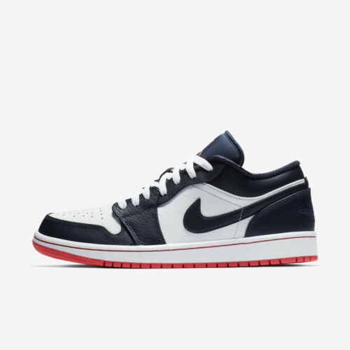 Cheap Nike Air Jordan 1 Low [553558-481] Men Casual Shoes Obsidian/Ember Glow-White for cheap
