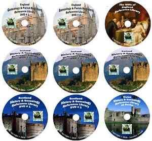987-books-UNITED-KINGDOM-history-genealogy-on-9-DVDs
