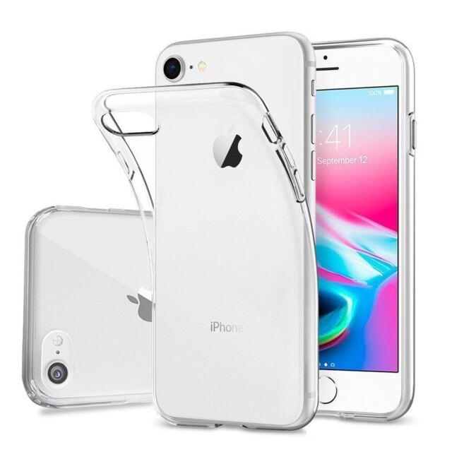 Silikon Hülle transparent für iPhone 8 ultraslim slim Cover Case TPU