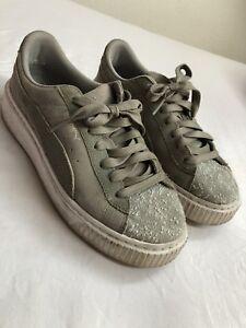 Details zu PUMA Sneakers Damen (Basket Platform Patent) Gr.38