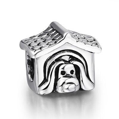 Vintage Funny Cartoon Pets 925 Sterling Silver Bead fit European Charm Bracelet