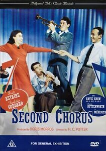 Second-Chorus-1940-DVD-Fred-Astaire-Paulette-Goddard-Artie-Shaw-NEW