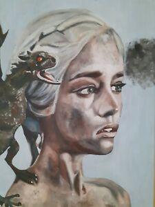 Daenerys-Targaryen-Mother-of-Dragons-Acrylic-50-x-70-cm-Year-2019