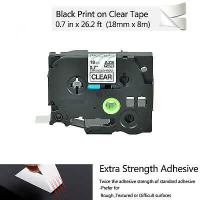 3PK TZES641 TZS641 Strong Adhesive Label for Brother PT-E300 Black on Yellow