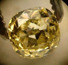 GIA Cert 0.57ct CUSHION cut diamond NATURAL FANCY YELLOW  SI-2  A Beauty!