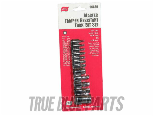 Lisle Tools 26530 Master Tamper Resistant Torx Bit Set