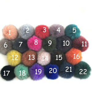 10cm 100% Real Fox Fur Pom Poms Ball for Scarf Shoes Phone Hat DIY Accessories