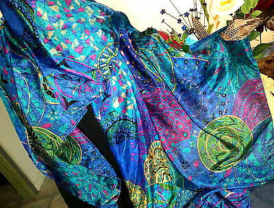 "100% Silk Scarf,Exquizite""Mystical Snailsilk Art 'Soft-GlossyXLight-180x110cm*BR"