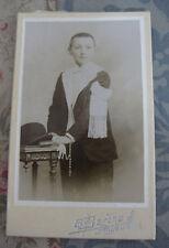 Photographie ancienne Portrait garçon communiant 1906  CDV Berthe Angoulême