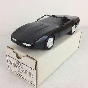 1989-ERTL-Corvette-Convertible-Black-Dealer-Promotional-Model-Car