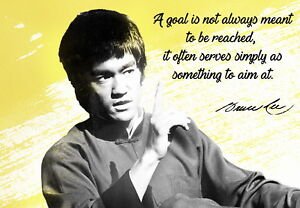 Image Is Loading Bruce Lee Martial Arts Quotes Poster 23 6x15