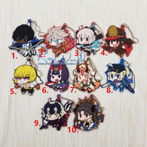 Fate//Grand Order FGO Anime Figure Keychain Keyring Rubber Strap Bag Charm Cospa