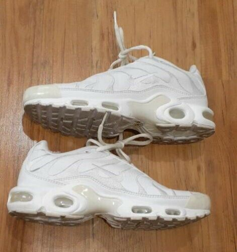 Nike Air Max Plus Tuned TN Triple White Leather AJ