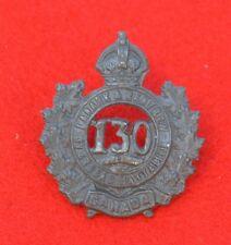 Canadian Army. 130th Battalion (Lanark and Renfrew), Genuine CEF Collar Badge